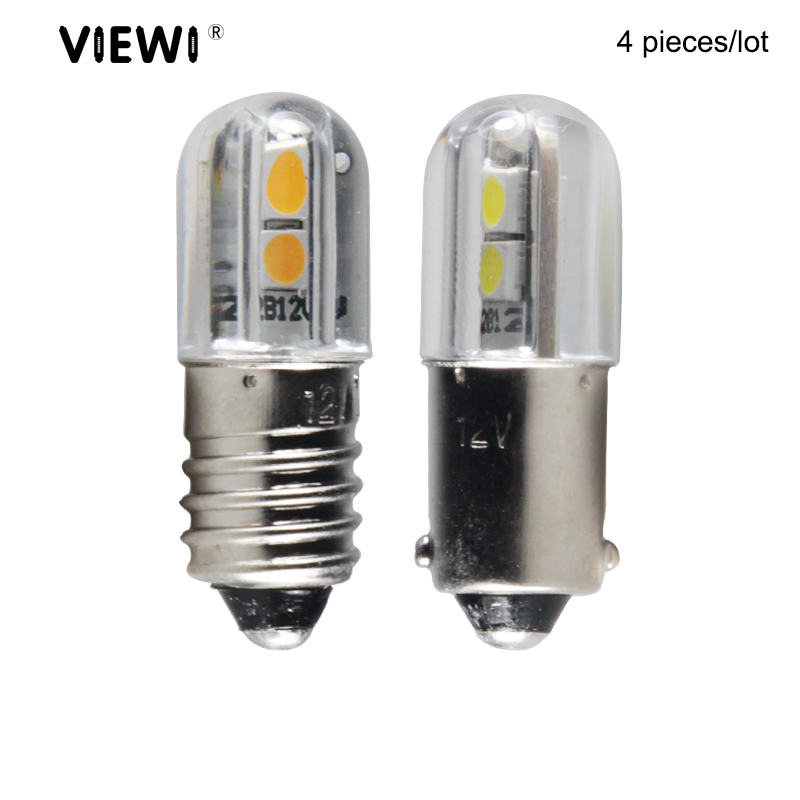 Ampoule E10 T4W BA9S 1W 6V 12V 24v 36v 48V Led Indicator Bulb Blue Warm White Red Car Interio Light Auto Instrument Bulbs Lamp