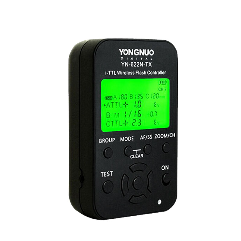 YONGNUO YN-622N-TX YN622N-TX Wireless TTL Flash Controller Transmitter with LCD Display working with HSS& Full Function tx