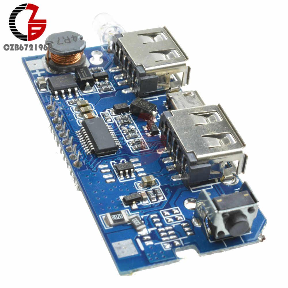 デュアル USB 18650 リチウム電池の充電ボードモバイルパワーバンク充電モジュール PCB ボード Lcd ディスプレイ Arduino の Diy 5V 1A 2.1A