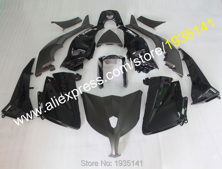 Hot Sales,Cowling For Yamaha TMAX530 2012 2013 2014 TMAX 530 TMAX-530 brilliant black Motorbike body Fairing (Injection molding)