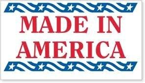 6000 шт./лот 50x25 мм сделано в Америке сзади клей бумажные наклейки с пленкой, пункт № SL12