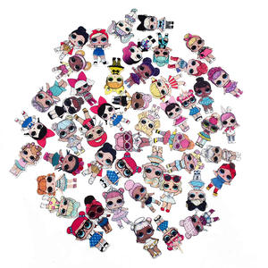 10PCS Mixed Girl Big Eyes Doll Charm For Hair Decoration