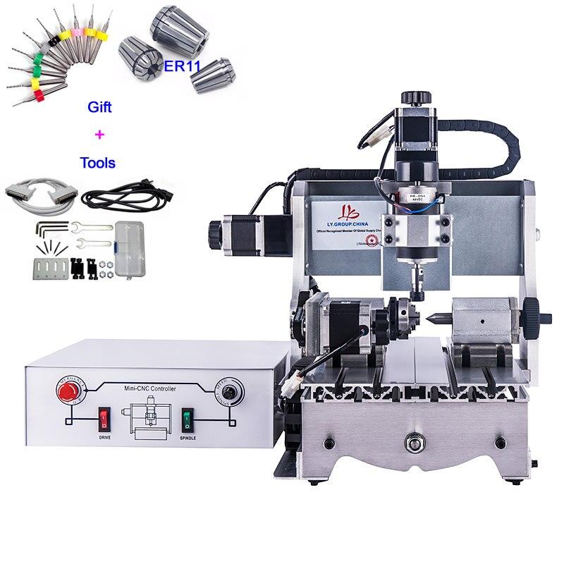 4 Axis Mini CNC Router 3020 300W 3D CNC Engraving Machine with Ball Screw4 Axis Mini CNC Router 3020 300W 3D CNC Engraving Machine with Ball Screw