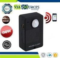 Обнаружения дома Anti-theft системы с ЕС Plug адаптер Мини PIR оповещения сенсор беспроводной инфракрасный, GSM сигнализации мониторы детектор движе...