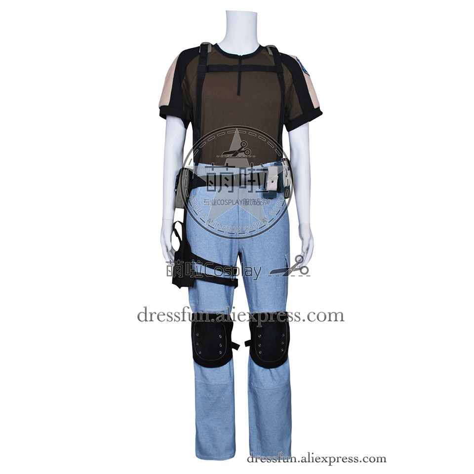 Resident Evil Cosplay Chris Redfield Costume Outfits Full Set Uniform Halloween Popular Suitable Fast Shipping