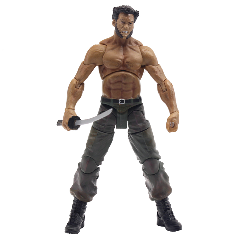 Marvel Legends Series X-Men Wolverine Claws Logan Action Figure Anime Doll Toy Collectible Model Toys for Children Gift
