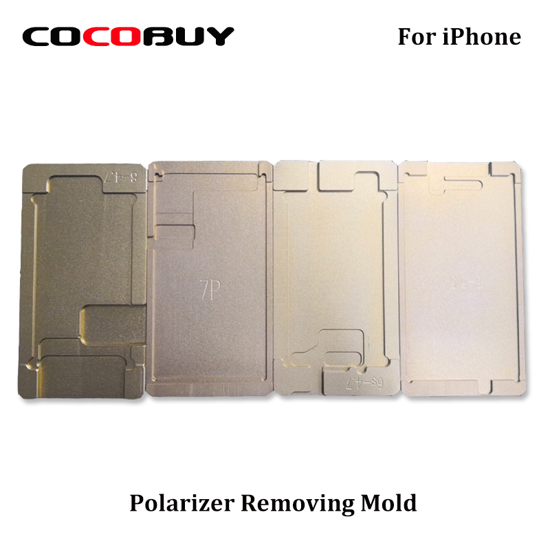Novecel Polarizer Mould For Iphone Series LCD Remove Polarizer Film Glue Adhesive UV Glue Mold Holder OCA Mold For Screen Repair