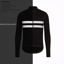 SPEXCEL top quality 0 degree Reflective Winter Windproof Cycling Jacket thermal fleece soft shell clothing black