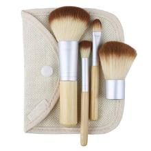 5pcs Set Nude Women Girls Professional BAMBOO Makeup Cosmetic Brushes Set Beauty Tools Chic Design 5GOO
