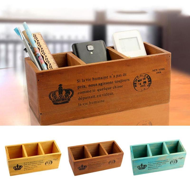 Wooden Storage Box Cosmetic Organizer Basket Jewelry Box Organizador Makeup Organizer Casket For Decorations S3