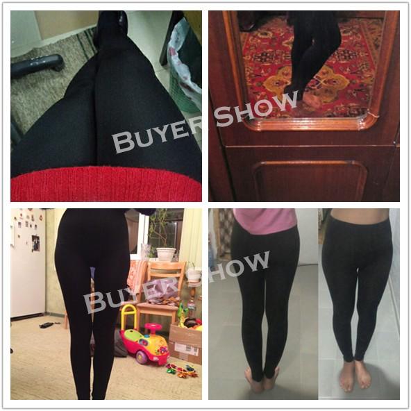 NORMOV Women's Winter Plus Cashmere Leggings Fashion Big Size Warm Super Elastic Faux Velvet Winter Thick Slim Leggings 4