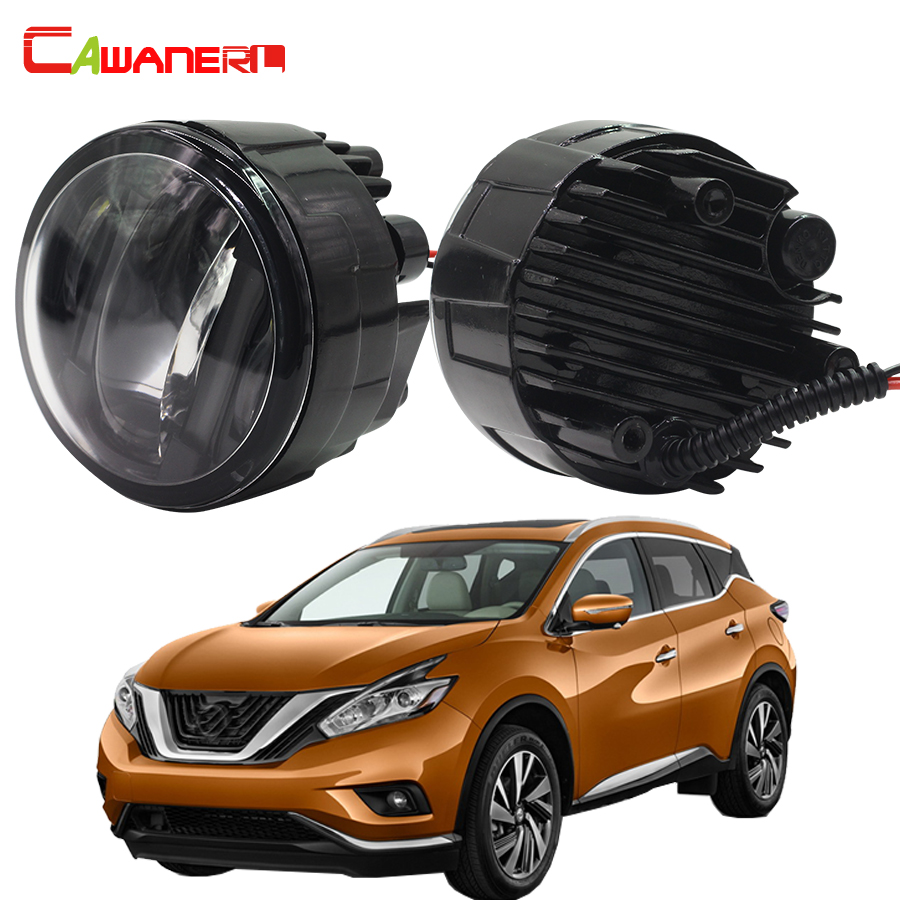 Cawanerl 1 Pair Car Accessories LED Fog Light DRL Daytime Running Lamp For Nissan Murano Z51 2007 Onwards cawanerl 1 pair car light led fog lamp drl daytime running light white 12v for subaru trezia hatchback 1 3 1 4d 2011 onwards