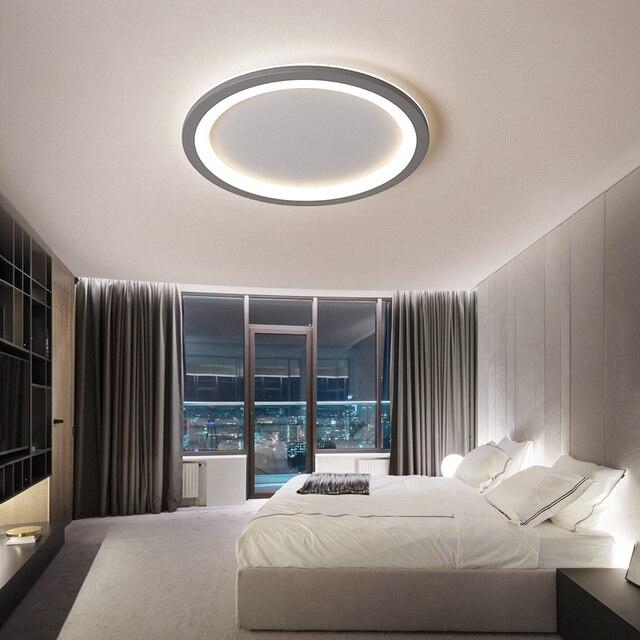 VEIHAO Round Modern LED Ceiling Chandelier For Bedroom Balcony Aisle Corridor Kitchen Gray white acrylic chandelier lighting