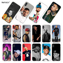 MaiYaCa Chris Braun Luftigen Coque Shell Telefon Fall für Apple iPhone 8 7 6 6S Plus X XS XR XSMAX 4S Abdeckung(China)