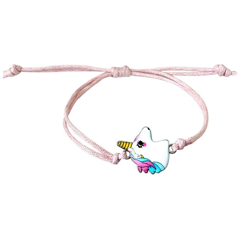 2019 Cute Women Pink Unicorn Charms Bracelets Adjustable