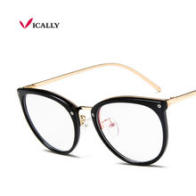 1074c15a7e71 NEW Glasses Frames Woman Man Eyeglasses Frame for Myopia Vew Plica Eye  Glasses Plain Mirror Glass Vintage Black Spectacles