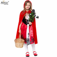halloween costumes for kids girl cute cosplay little red riding hood fantasy game uniforms fancy dress outfit S XL,free shipping