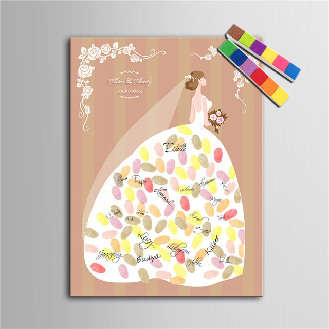 personalized fingerprint tree canvas wedding guest book wedding decor decorations mariage decoration event party supplies boda - Aliexpress Decoration Mariage