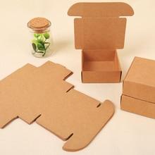 Kraft Paper Handmade-Soap Cardboard Personalized Packaging-Box Gift Small 50pcs