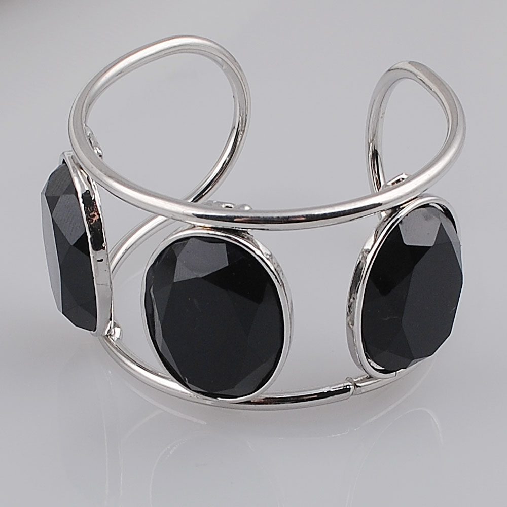 Big Cuff Bracelets For Women New Trendy Plated Round Jewelry Hollow Design Wide Bangles Bracelets 6