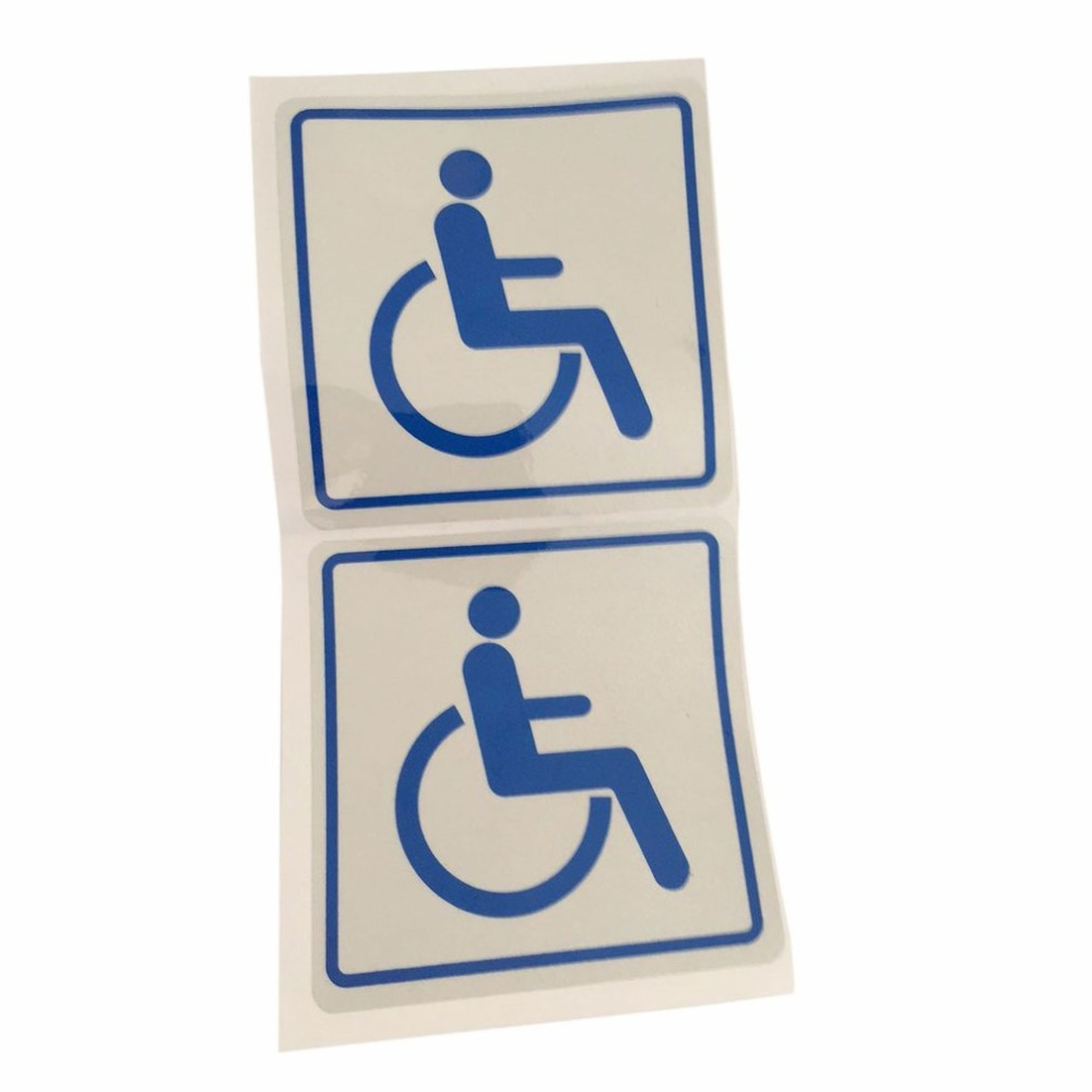 Disabled Car Window Stickers-Self Adhesive Vinyl-Disability Handicapped Aids Disabled Car Window Stickers -MENYUNYIJI Blue