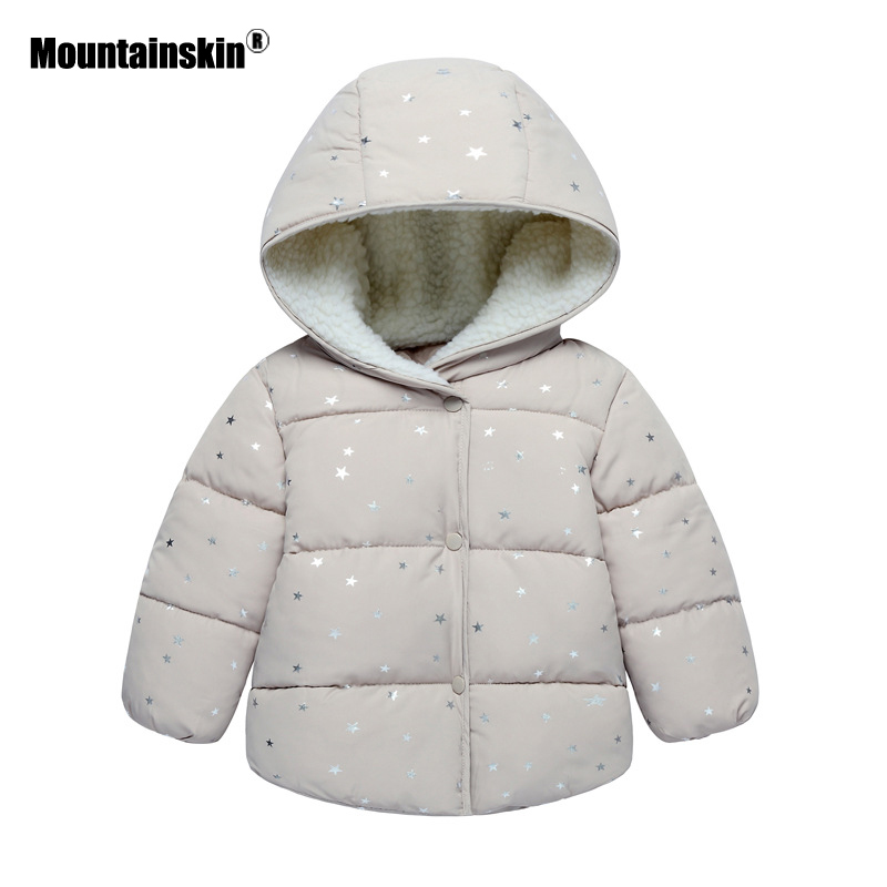 Mountainskin 2017 Winter Autumn Spring Baby Boys Girls Thick Hooded Coats Children Warm Clothing Kids Thermal Outdoor 2-6T SC891 mountainskin 2017 winter autumn spring baby boys girl sweater kids rompers children suit cardigan thick warm outwear 0 24m sc895