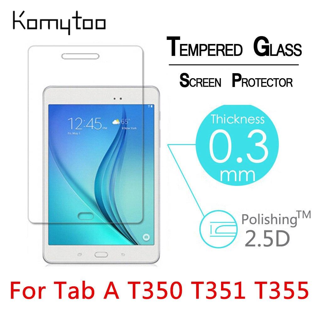 """imágenes para 10 unids 9 H A Prueba de Explosiones Templado Vidrio Templado Para El Samsung Galaxy Tab A T350 T351 T355 8 """"Pantalla de la película Transparente Protege La Cubierta"""