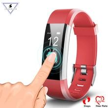 ID115 Plus HR Pulseira Monitor De Freqüência Cardíaca de Fitness rastreador Inteligente Contador de Passos Pulseira Wrist Band para IOS Android Telefone Inteligente