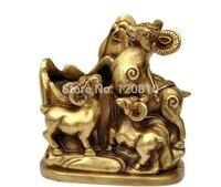 copper ornaments sheep goats climbing sheep money Sanyangkaitai auspicious beginning statue