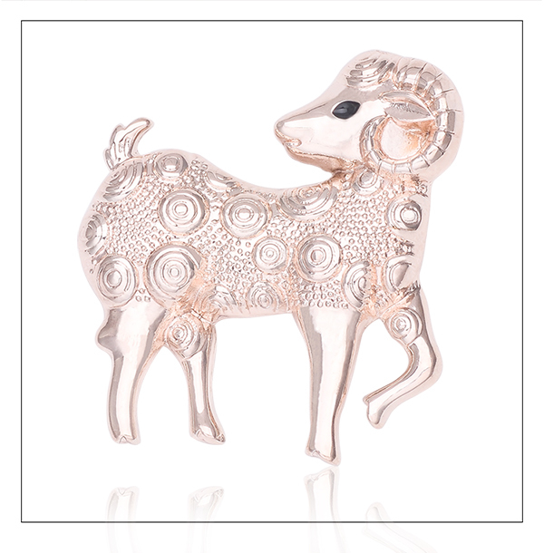 Fashion jewelry beautiful safety pin sheep brooch America and Europe pop Rose Gold brooches bouque for women lapel pin X1578