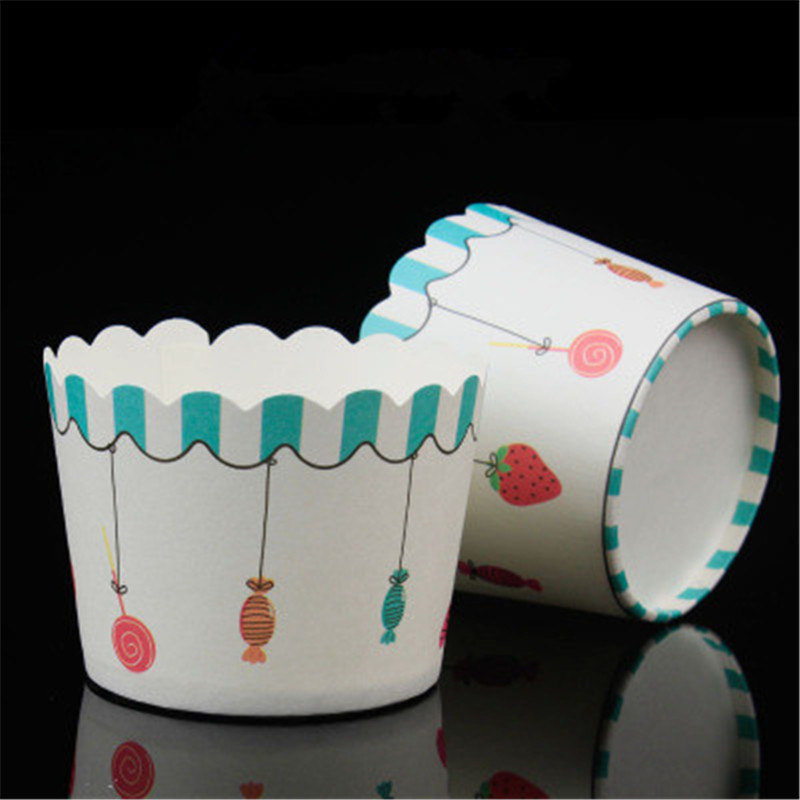 50pcs Strawberry Muffin Cupcake Paper Cups Cake Forms Cupcake Liner Baking Muffin Box Cup Case Wedding Party Cupcake Paper Cup