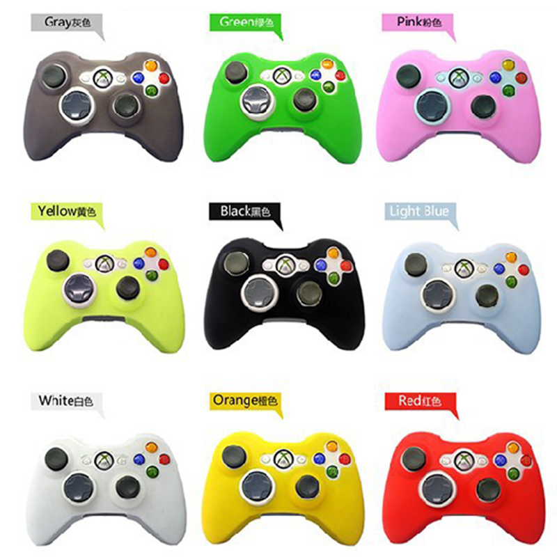 10 Colors Joystick Gel Skin Silicone Cover for XBOX 360 Wireless Game Controller Case Cover