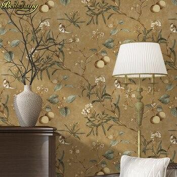beibehang papel de parede 3d American retro apple tree flowers bird wallpaper for walls 3 d wall-paper wall paper living room стакан для зубных щеток raiber r53902 одинарный