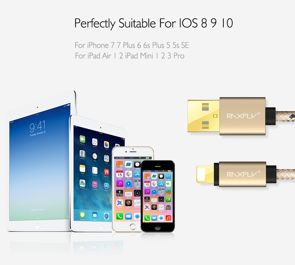 USB Cable For iPhone 7 6 6S Plus 5 5S SE Charger Cables 1M 2M Durable Nylon Accessories  (8)