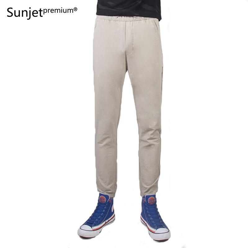 New 2018 Summer Autumn Men Casual Pants mens feet Solid Khaki Students Pencil Ankle Length Pants TL7050