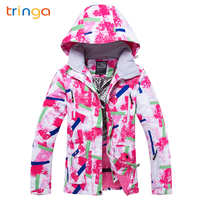 TRINGA Brands Women Ski Jacket Winter Skiing Snowboard Jacket Ski Women High Quality Windproof Waterproof Warm Snow Coat Female