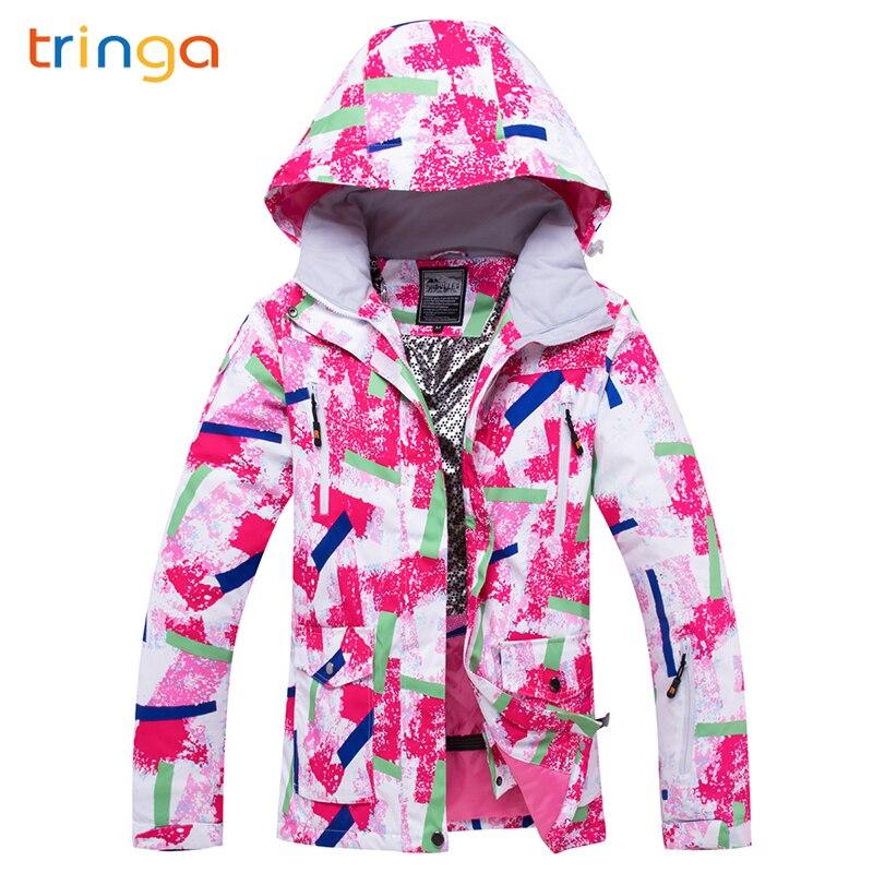 TRINGA marques femmes veste de Ski hiver Ski Snowboard veste Ski femmes haute qualité coupe-vent imperméable chaud manteau de neige femme