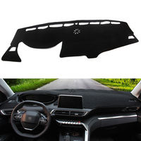 Car Interior Polyester Dashmat Dash Mat Dashboard Cover Fit For Peugeot 3008 GT 4008 2017 2018 Car Styling Accessories Decorate