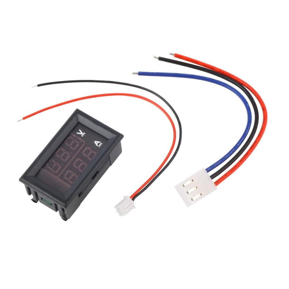New DC 100 V 10A Voltmeter Ammeter Blue + Red LED Digital Voltmeter Gauge Amp Dual Voltage Current For Home Tool Use Promotion