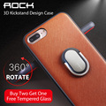 Para iphone 7 case original rock 3d kickstand titular telefone m1 case para iphone 7/7 plus de luxo tpu + pc suporte phone case capa