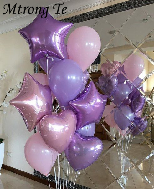 10 шт., фольгированные воздушные шары в виде сердца