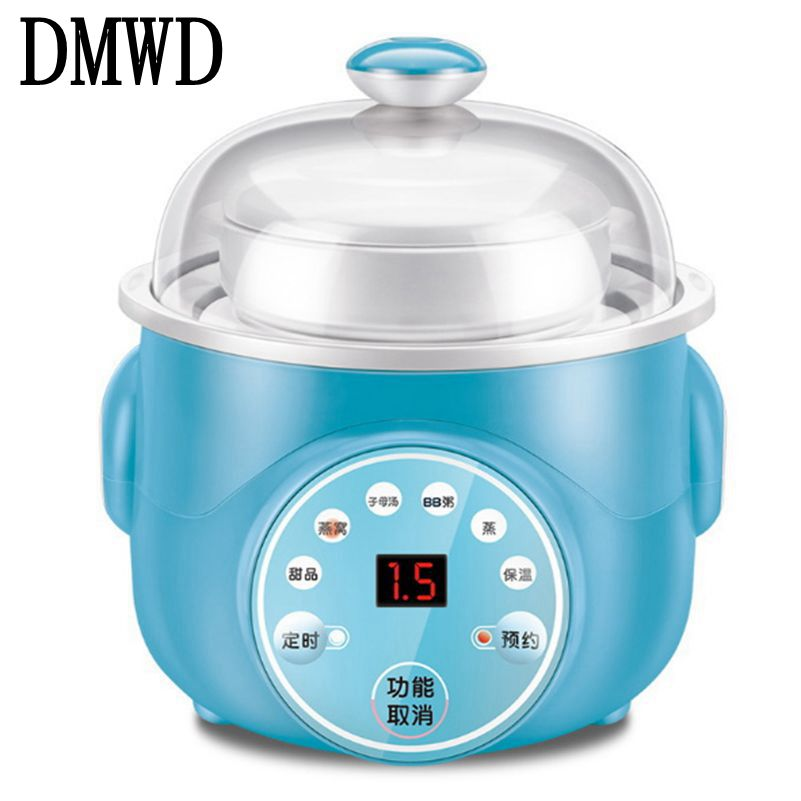 DMWD Electric slow cooker Food Steamer Ceramic Pot Multifunction BirdNest Soup stew Pregnant Tonic Baby Supplement heater warmer bear ddz b12d1 electric cooker waterproof ceramics electric stew pot stainless steel porridge pot soup stainless steel cook stew