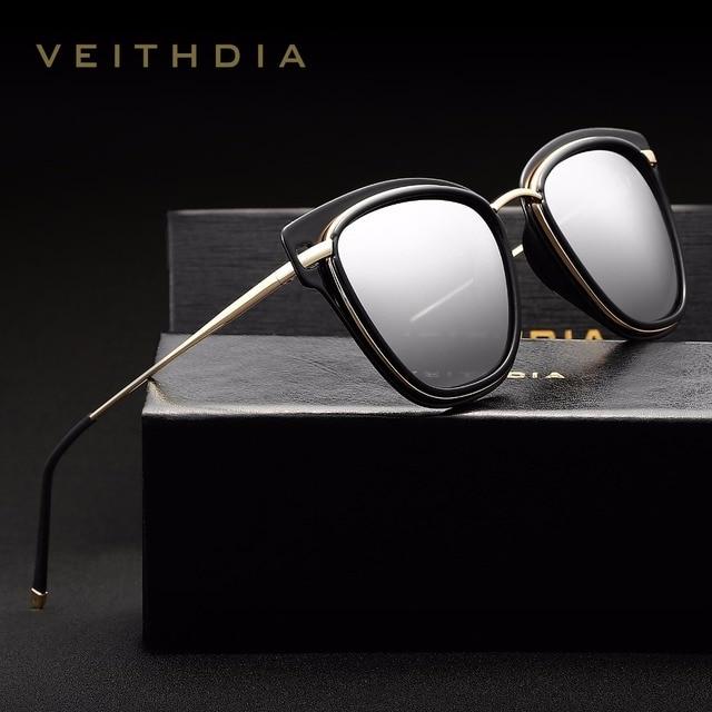 09195af9e71 VEITHDIA Women s Sun glasses Polarized Mirror Lens Luxury Ladies Cat Eye  Designer Sunglasses Eyewear For Women oculos 3038