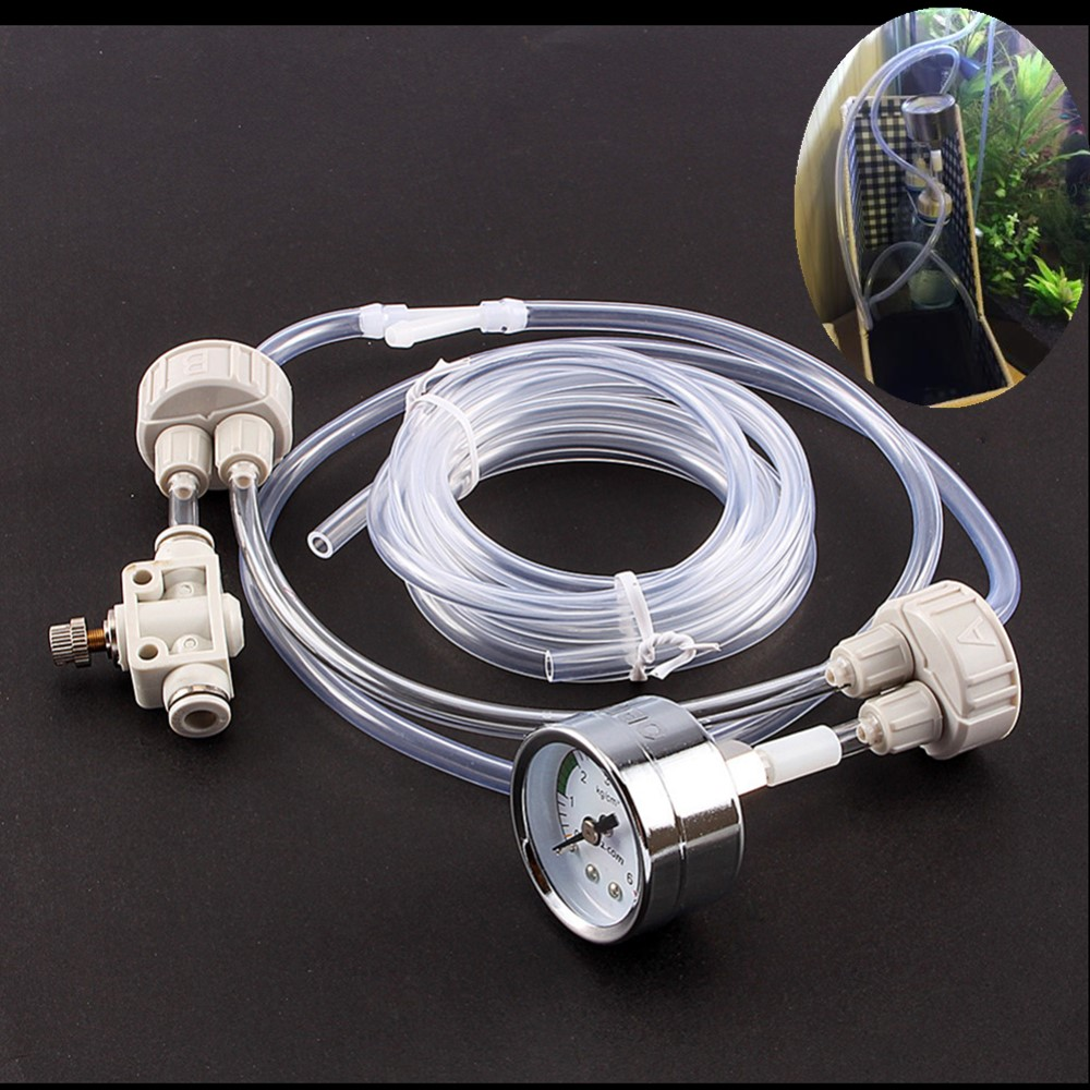 Aquarium fish tank co2 atomizer system - Aquarium Diy Co2 Generator System Kit With Pressure Air Flow Adjustment Water Plant Fish Tank Aquarium