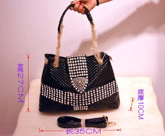Women s handbag shoulder slung female bag with diamond rhinestones with fashion new large capacity shell
