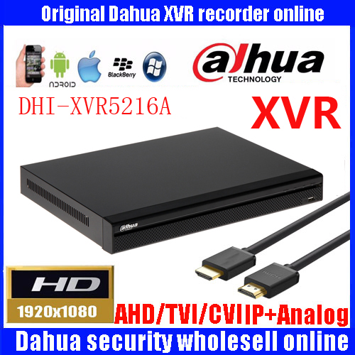 16 Channel Penta-brid 1080P-Lite 1U Digital Video Recorder DH-XVR5216A 16 Alarm input/3 Relay Output,4 /1 Audio In/Out
