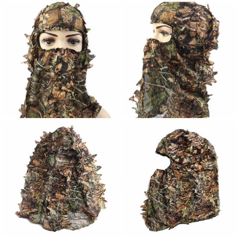 Sonderabschnitt Maple Leaf Stil Camouflage Gesicht Maske Jagd Haube Kappe Kopf Net Eyehole Öffnung Schal Jagd Ghillie Anzüge Zubehör Sport Zubehör