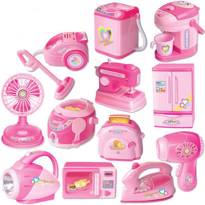 12pcs Set Electronic Mini Household Pretend Play Kitchen Children
