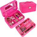 Fashion New Women Accessories Ornaments Box 4 Sweet Color Double Layer Gift jewelry Display Organizer Carrying Case Casket Boxes