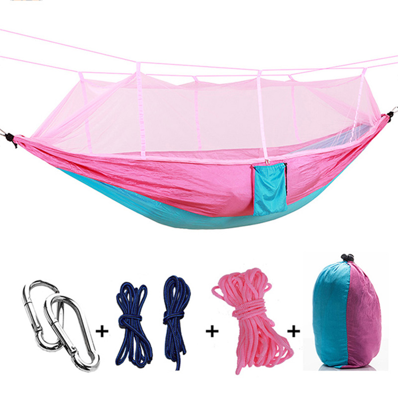 Ultralight Parachute Hammock Hunting Mosquito Net Hamac Travel Double Person Hamak for Camping Outdoor Furniture Hammock 2017 2 people hammock camping survival garden hunting travel double person portable parachute outdoor furniture sleeping bag